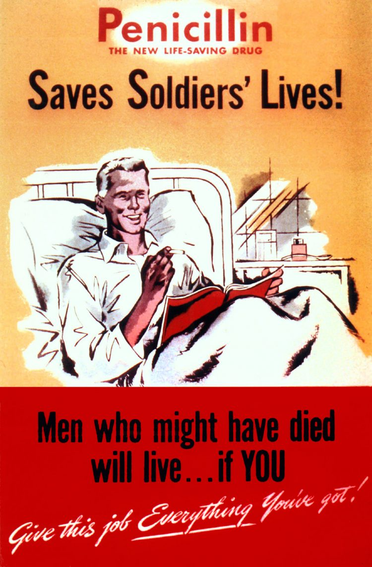Penicillin poster from WWII