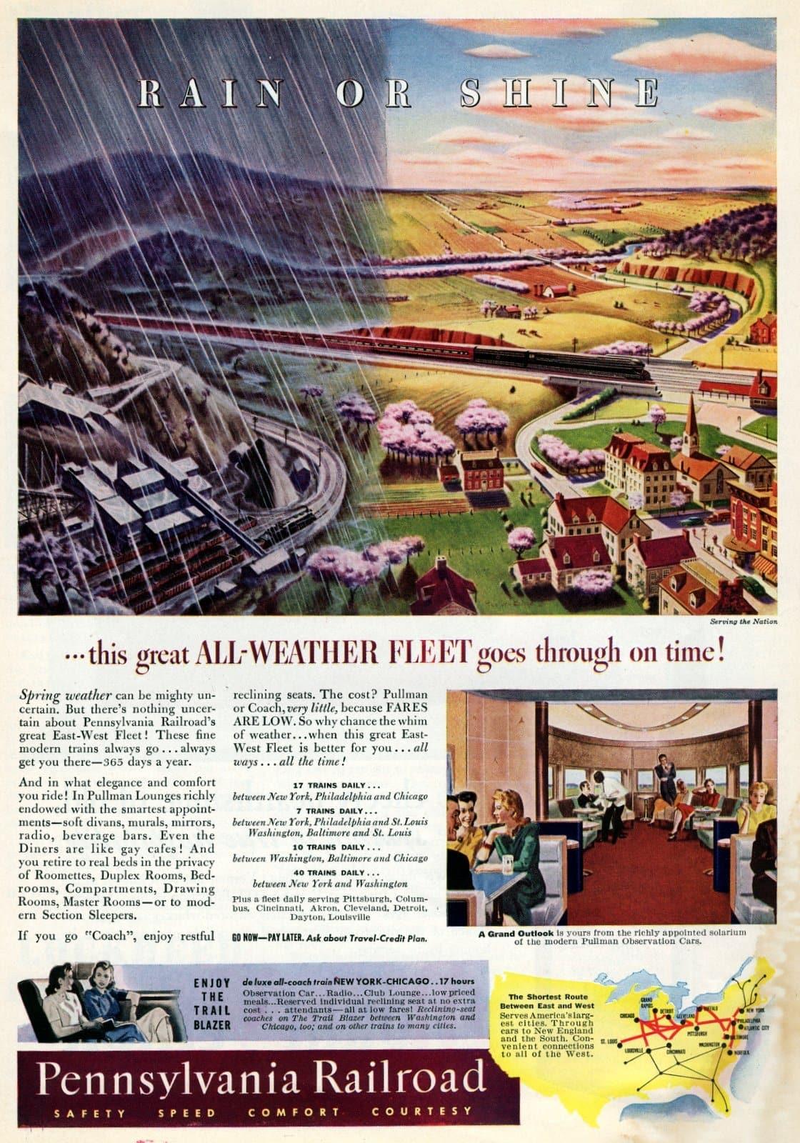 Pennsylvania Railroad's great East-West Fleet (1941)