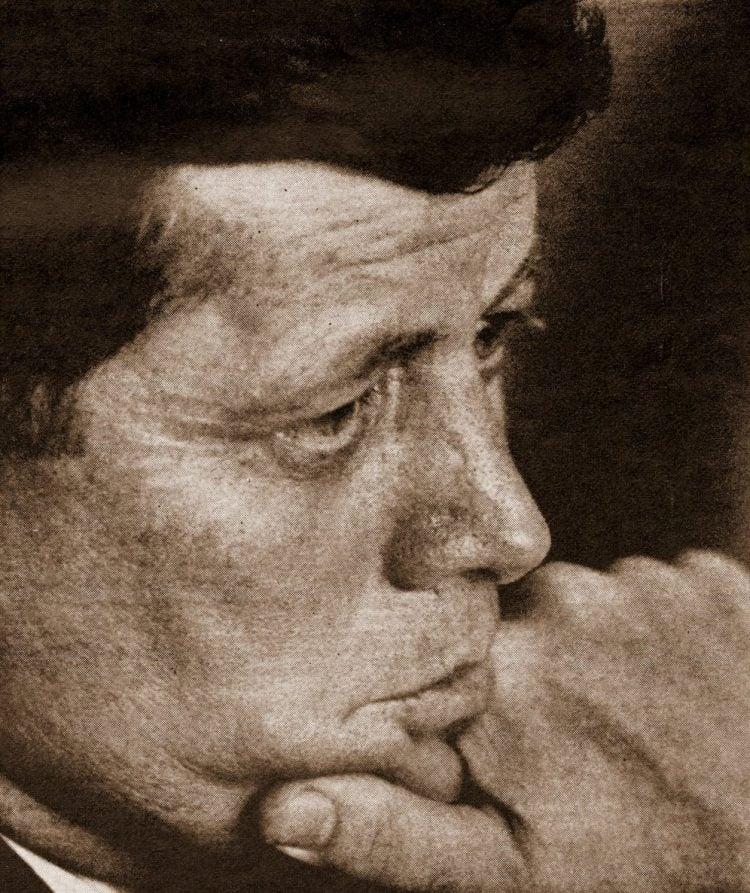 Pensive JFK
