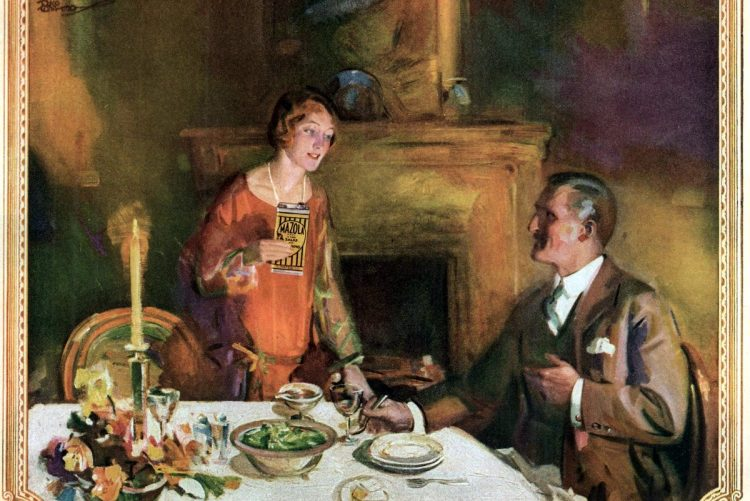 People at the dining table - Etiquette tips - 1926