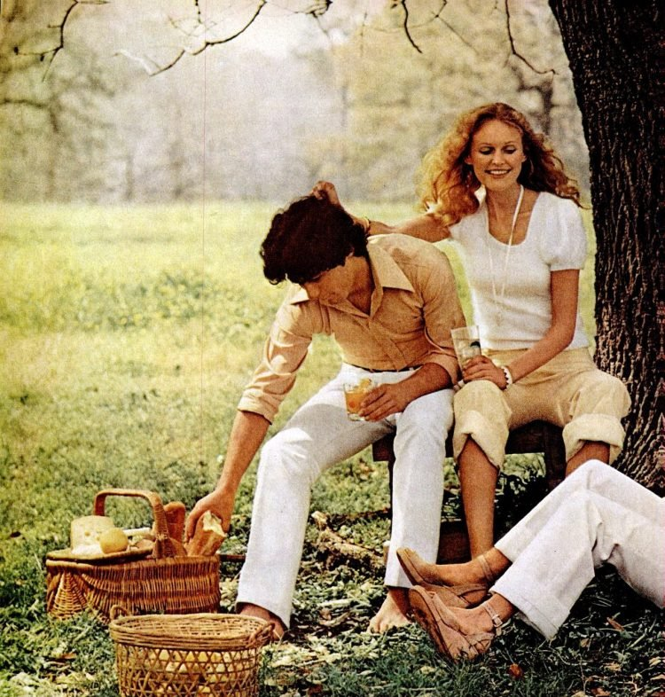People having a picnic in 1972