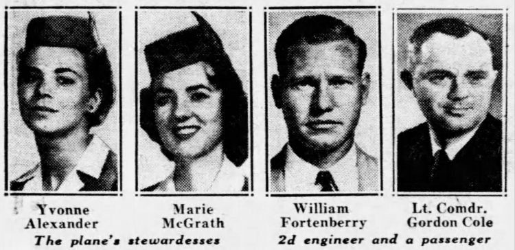 People killed in crash of Pan Am flight 7 in 1957