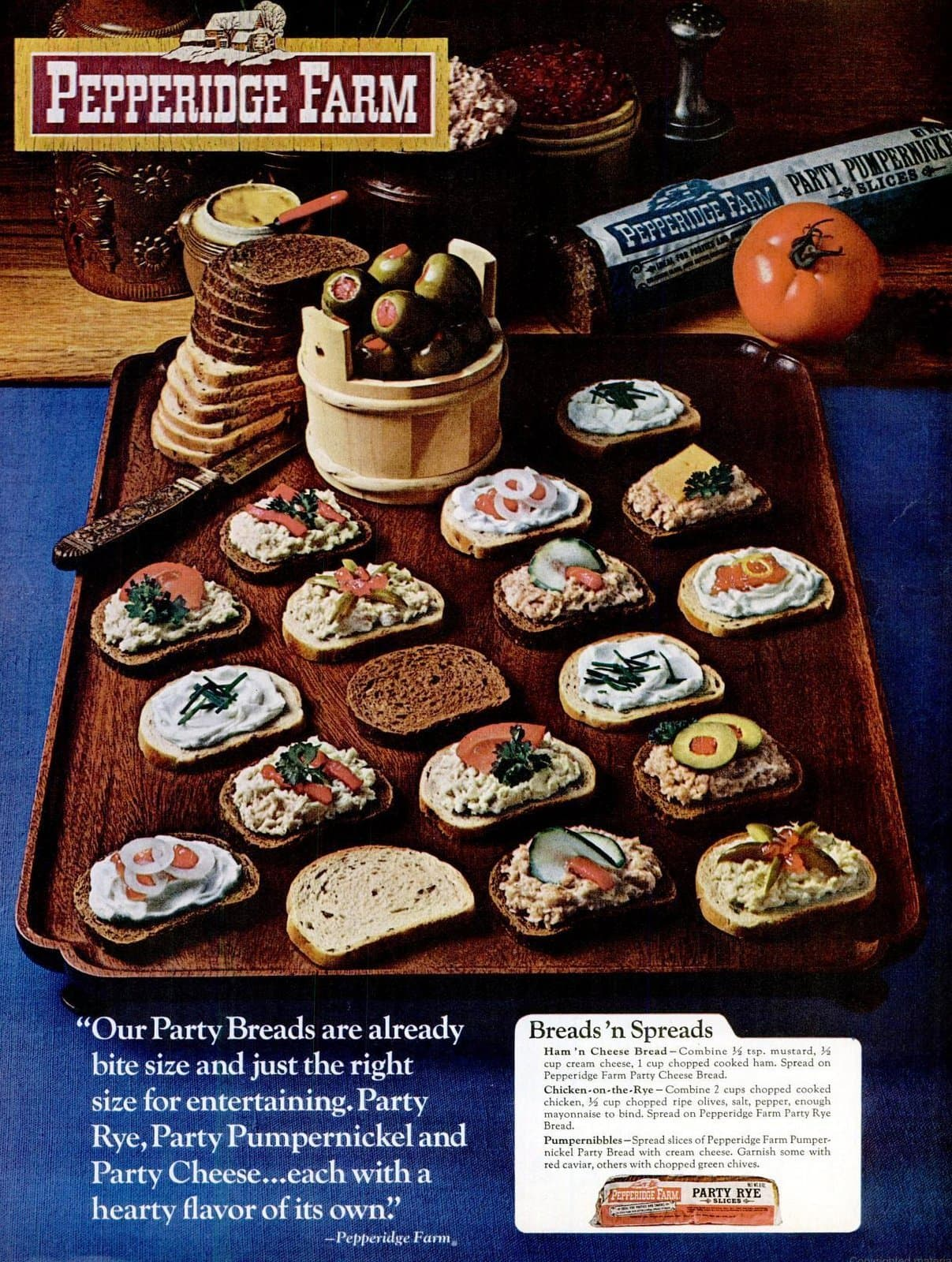 Pepperidge Farm Party Pumpernickel Slices - Bread loaf (1968)