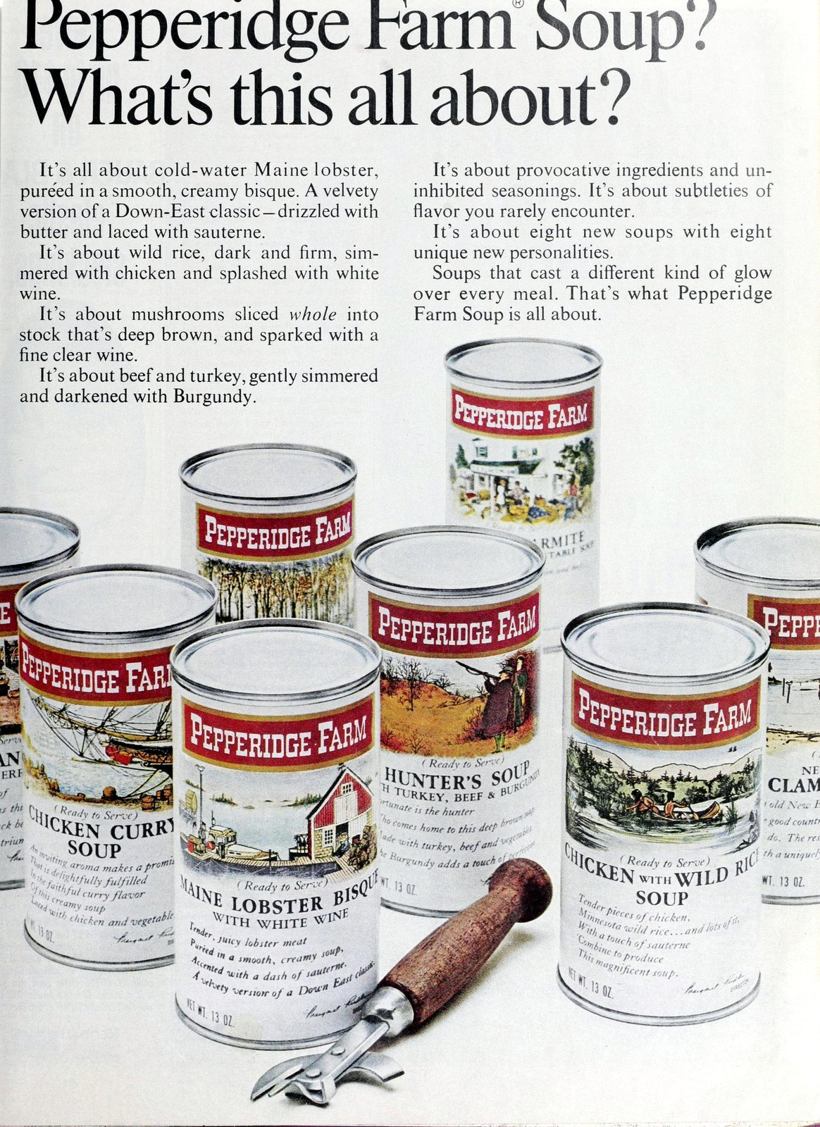 Pepperidge Farm canned soups from 1967