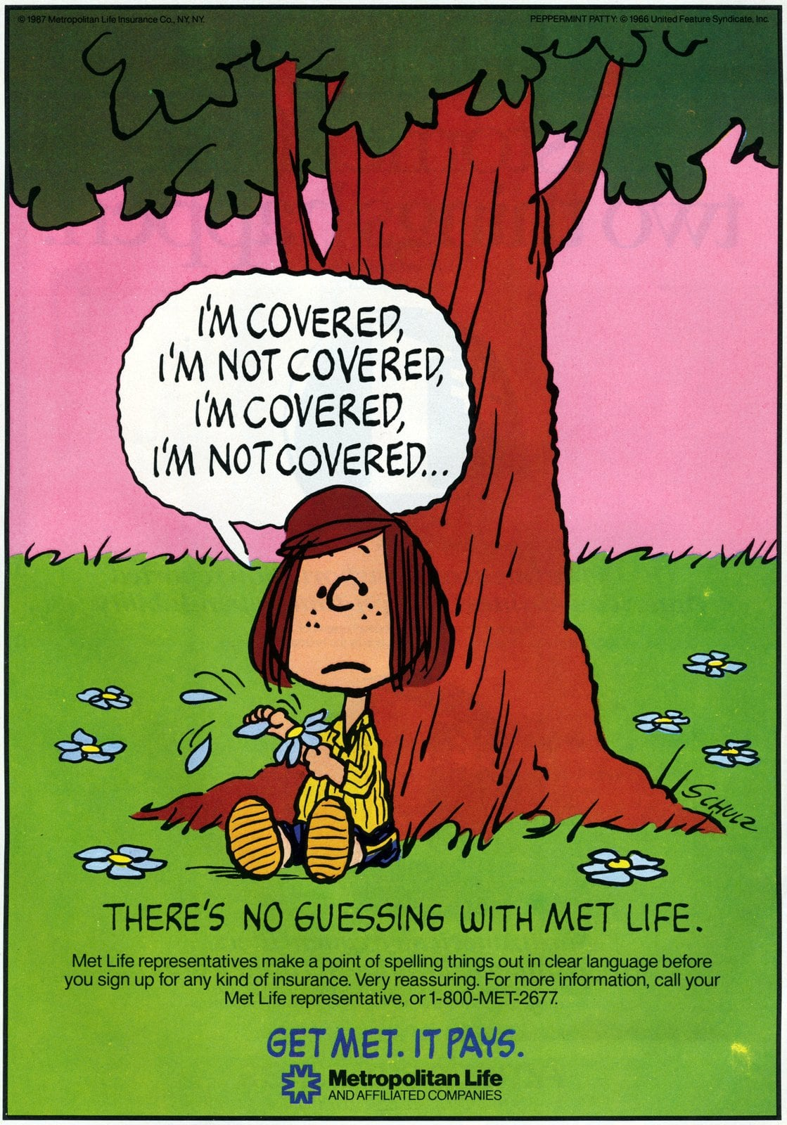 Peppermint Patty - Peanuts for Met Life (1987)