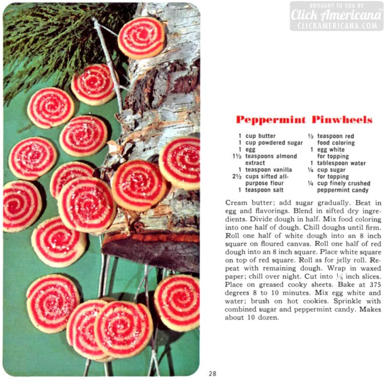 Peppermint pinwheel cookies (1966)