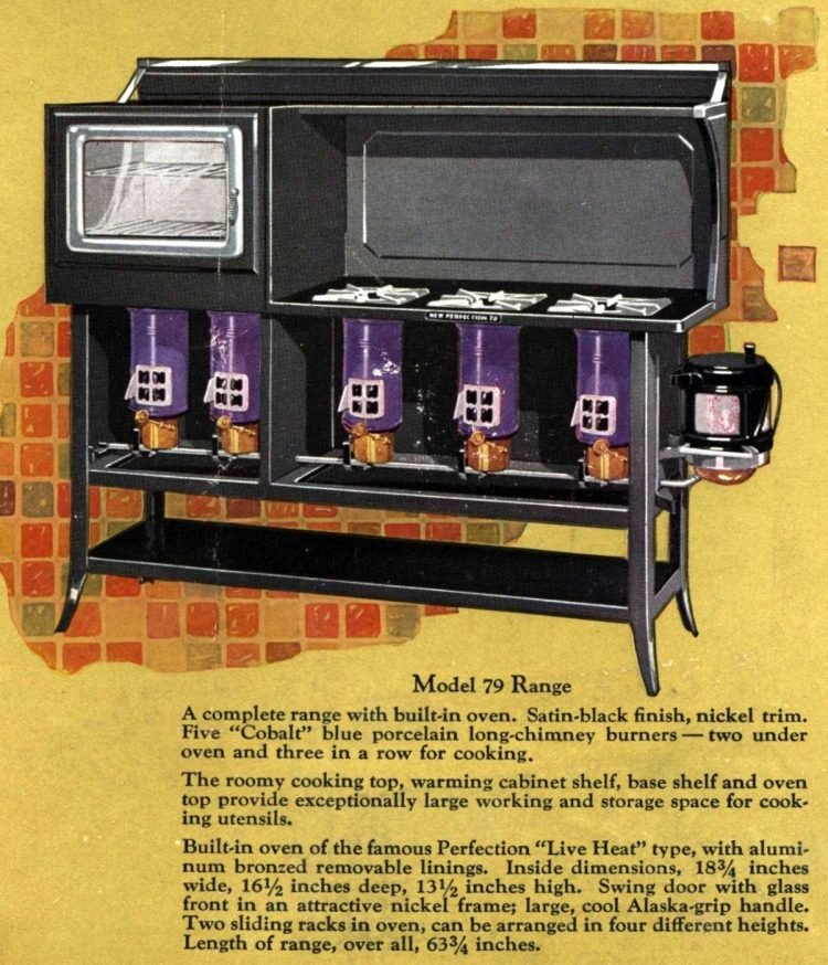 Perfection Stove - Residential kitchen appliance from 1928