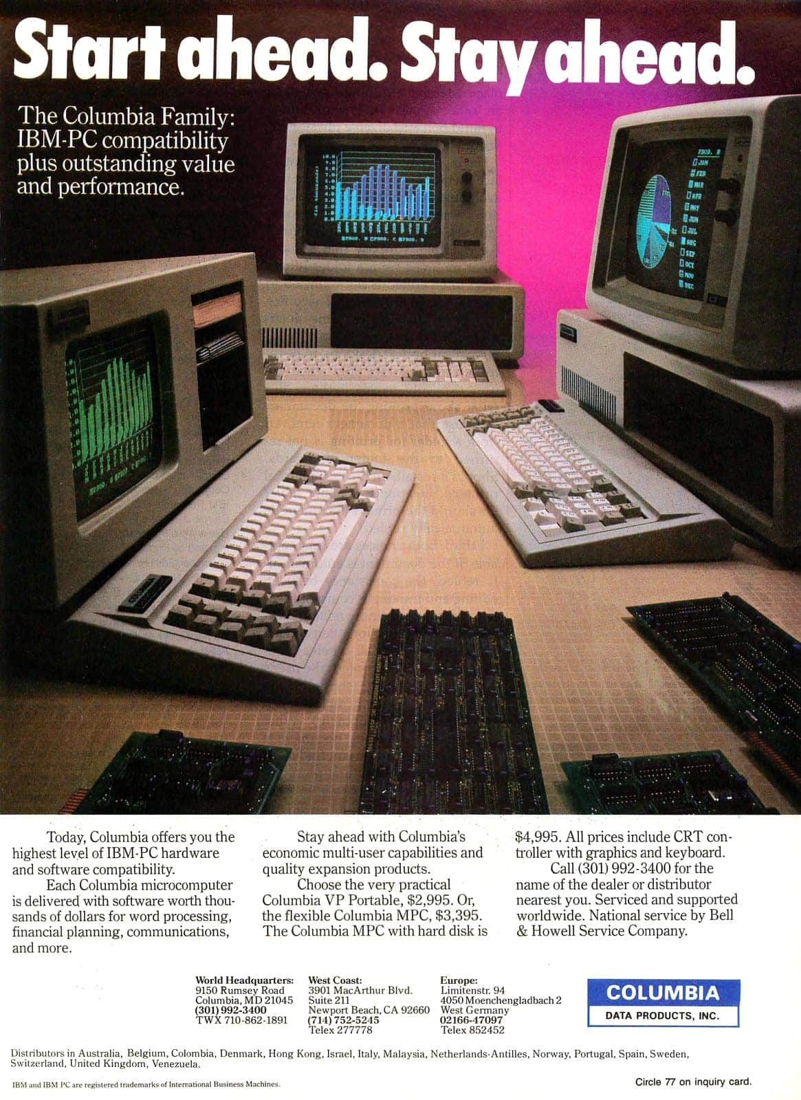 Columbia VP portable for $2995, or the MPC for $4995 (1983)