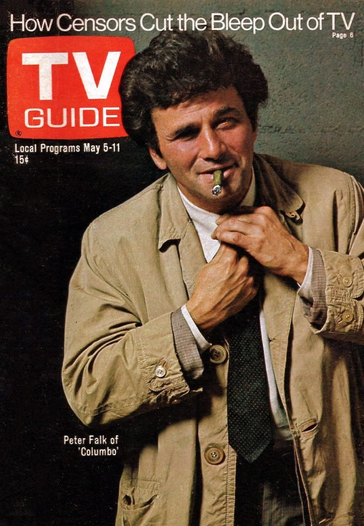 Peter Falk - Columbo - TV Guide magazine cover