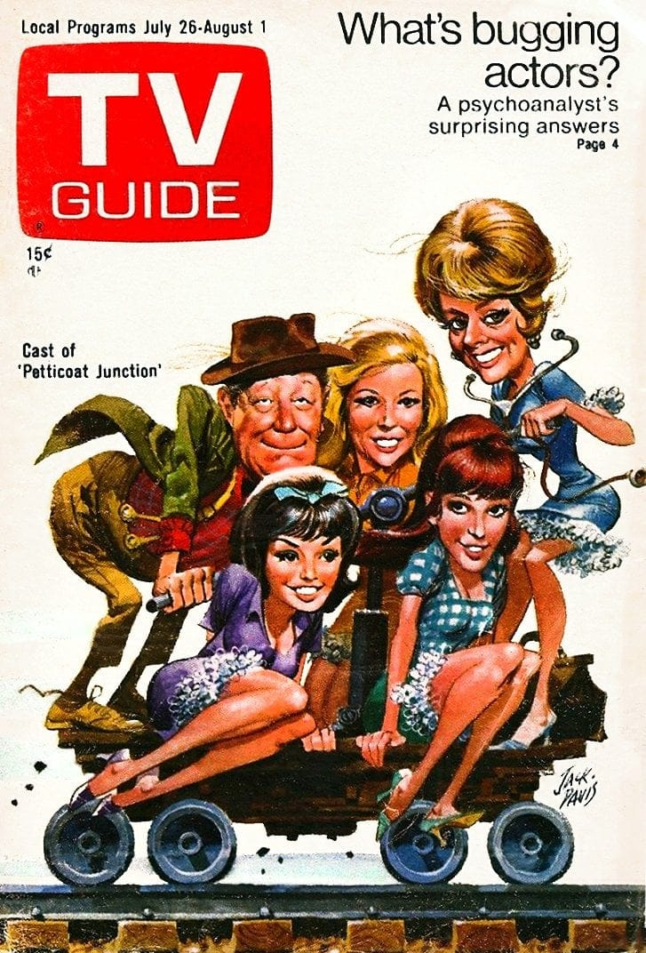 Petticoat cast on TV Guide cover