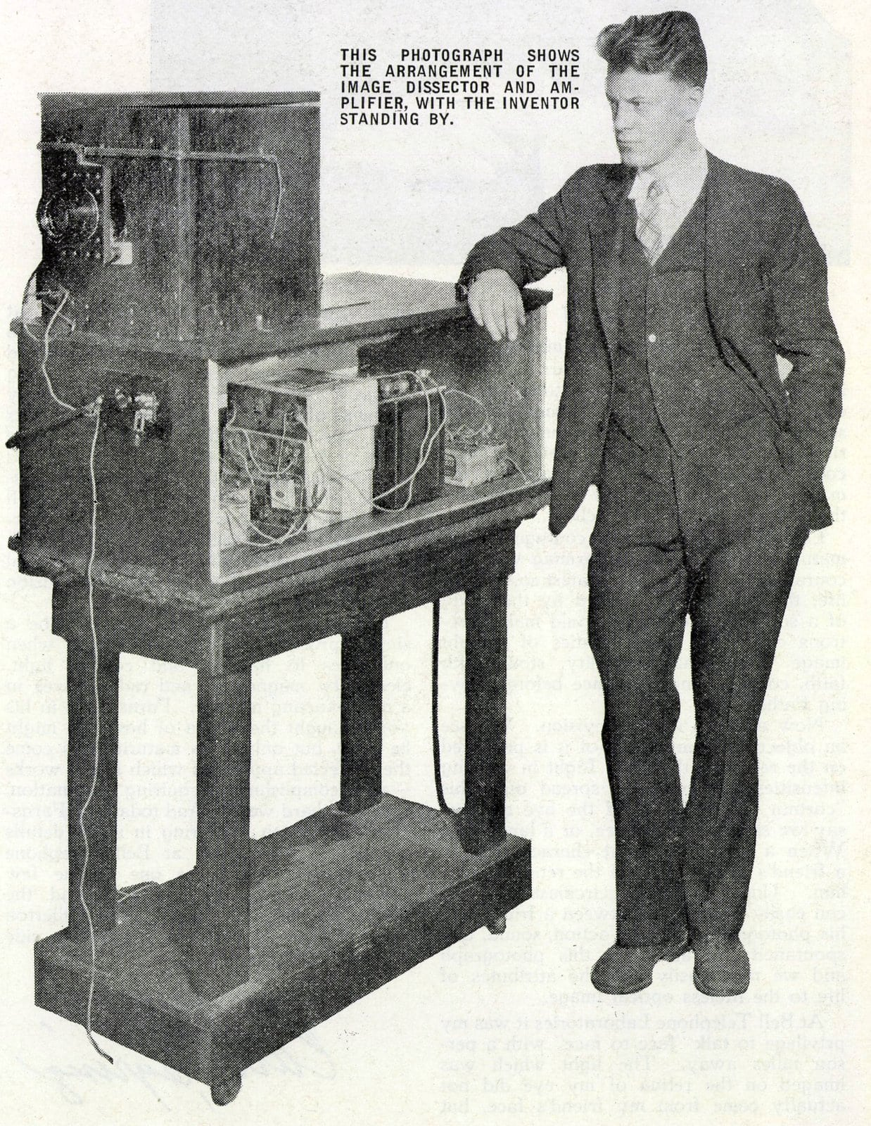 Philo T Farnsworth - Arrangement of television image dissector