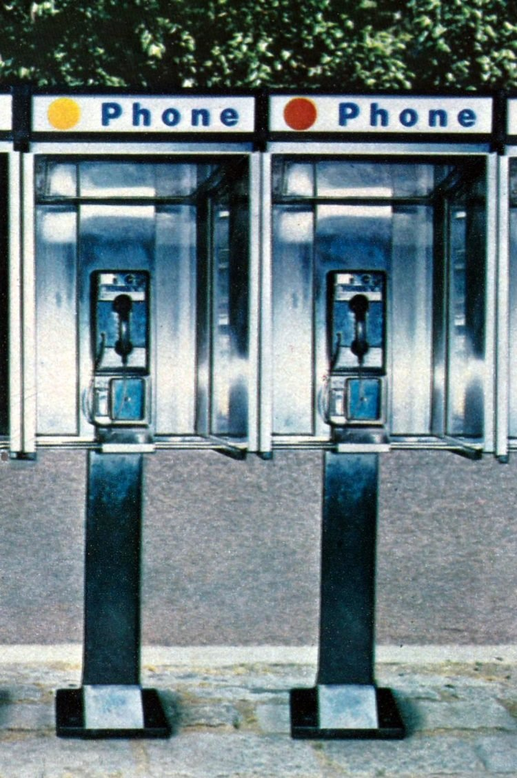 Phone booths in 1981