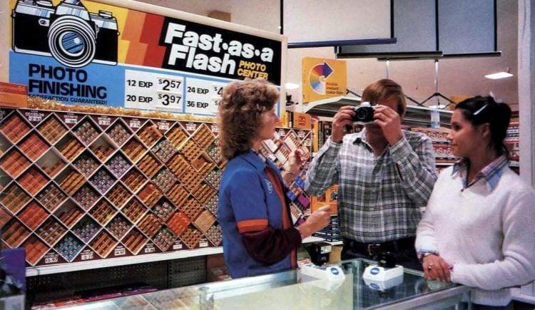 Photo processing at Wal-Mart in 1982