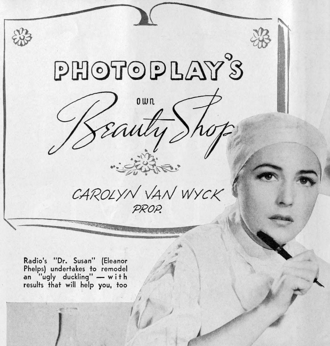 Photoplay beauty tips 1939