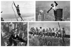 Photos of daredevil skyscraper construction workers
