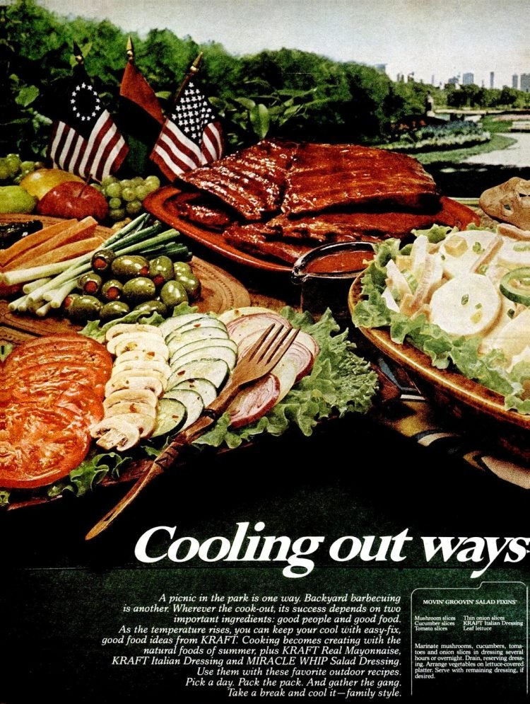 Picnic food from 1976