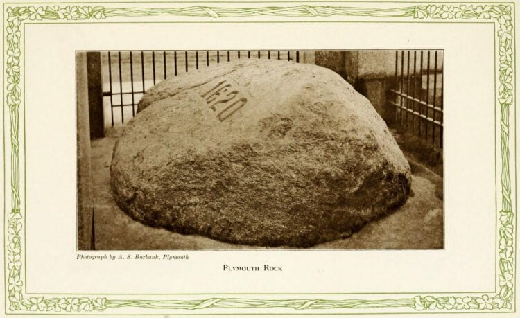 Pilgrims in America - First Thanksgiving - Plymouth Rock