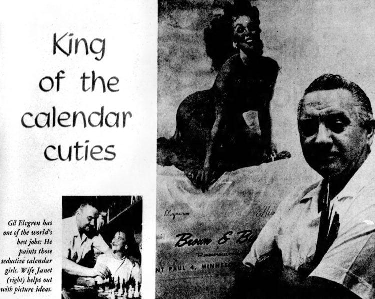 Pin-up girl artist Gil Elvgren (1962)