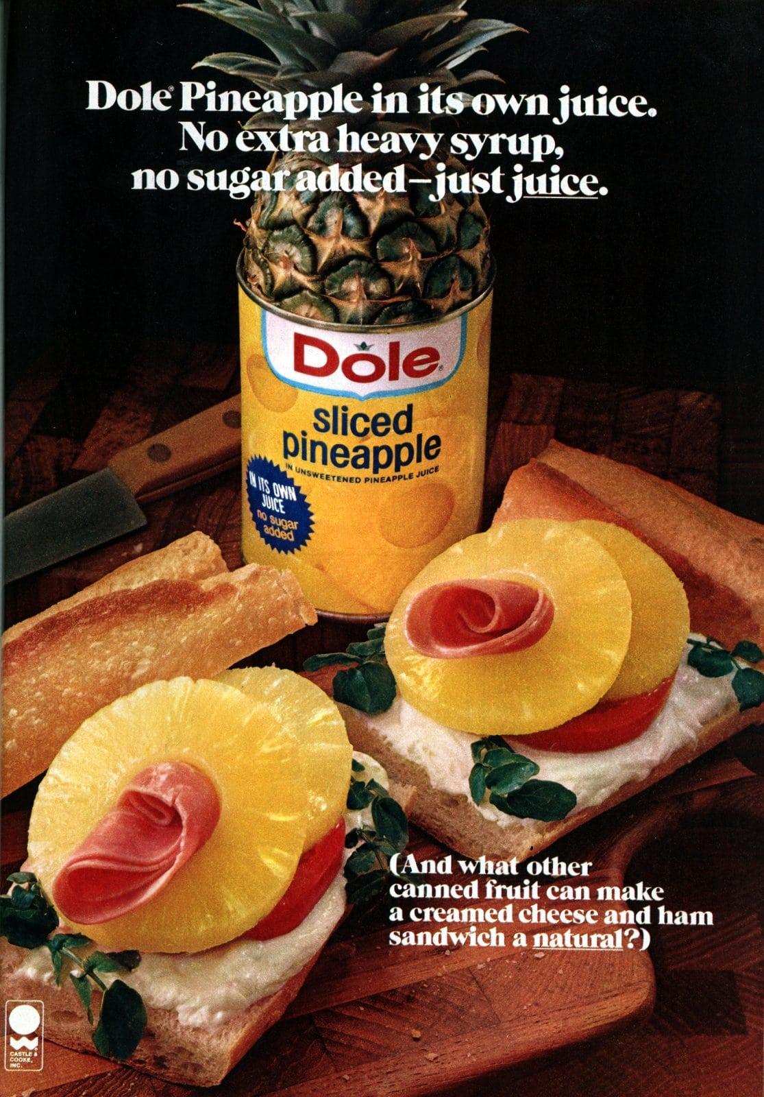 Pineapple cream cheese and ham sandwich (1978)