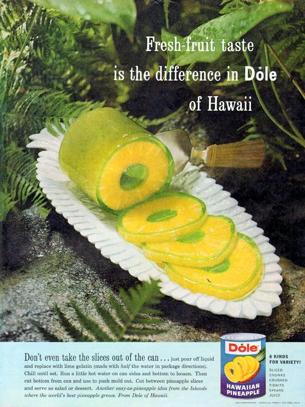 Pineapple jello can