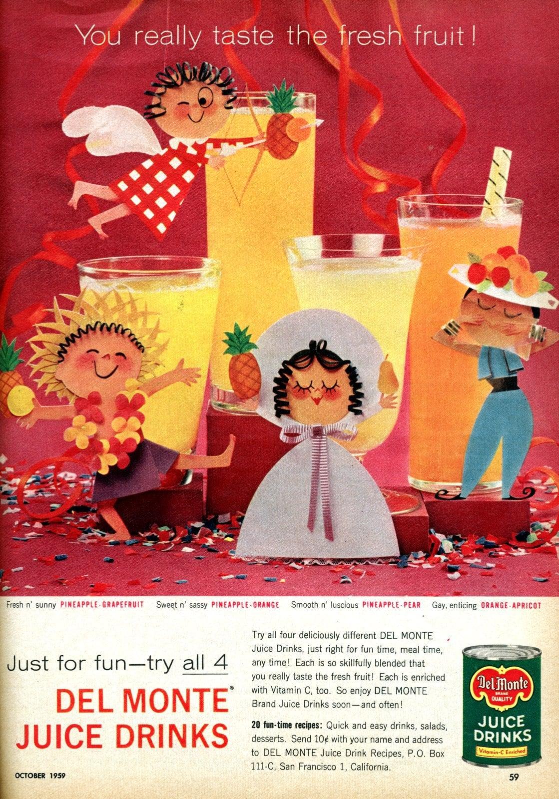 Pineapple juice drinks (1959)