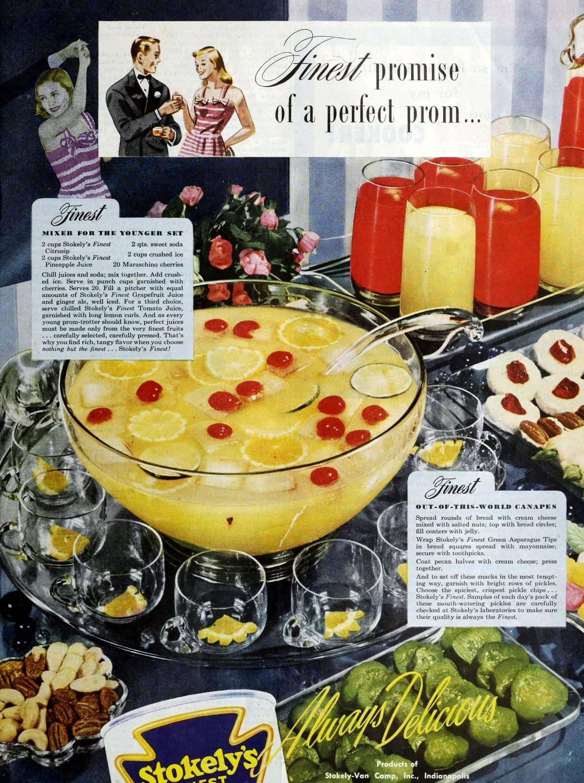 Pineapple juice punch recipe (1946)