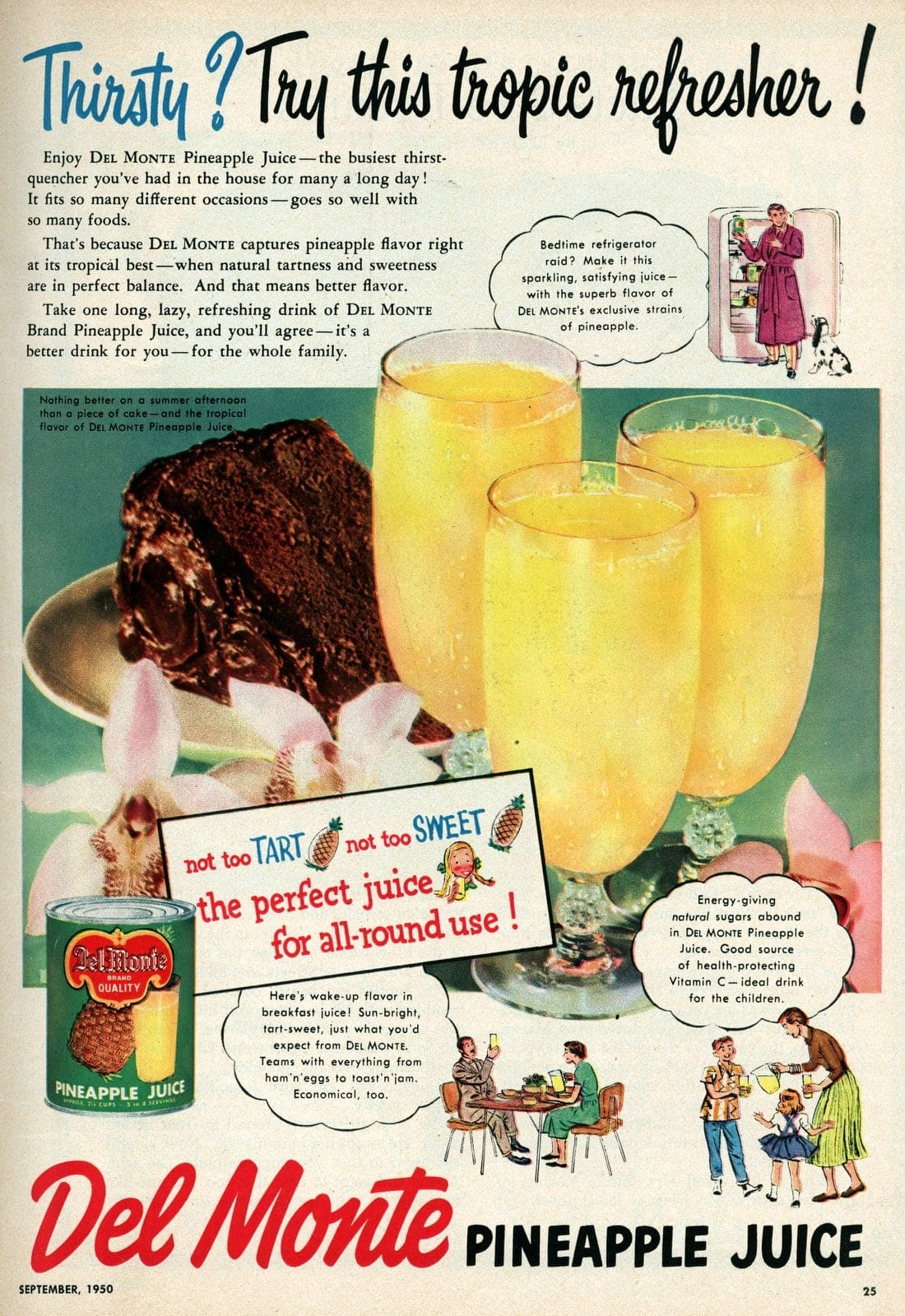 Pineapple juice tropic refresher drink from 1950
