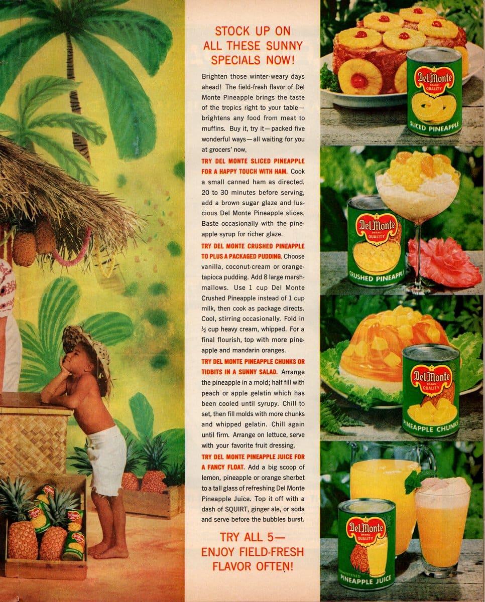 Pineapple sun fest recipe ideas (1961)