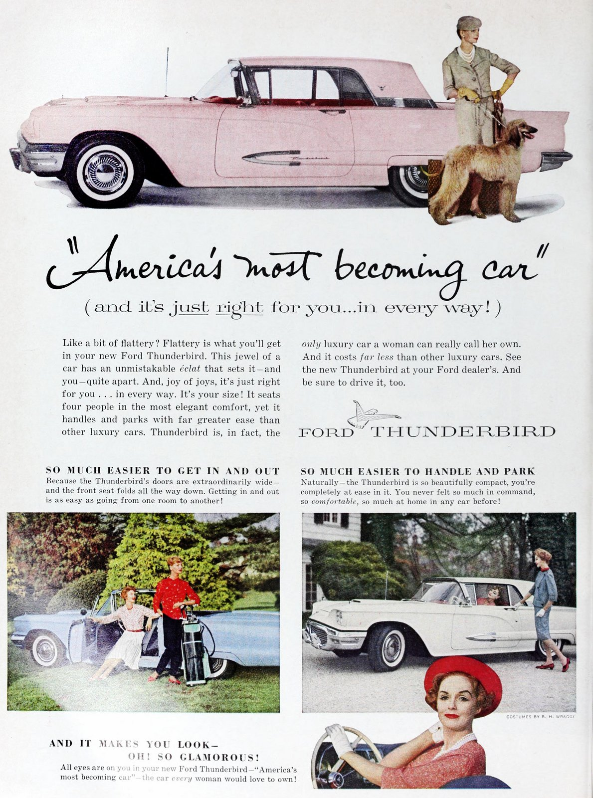 Pink 59 Ford Thunderbird - America's most becoming car