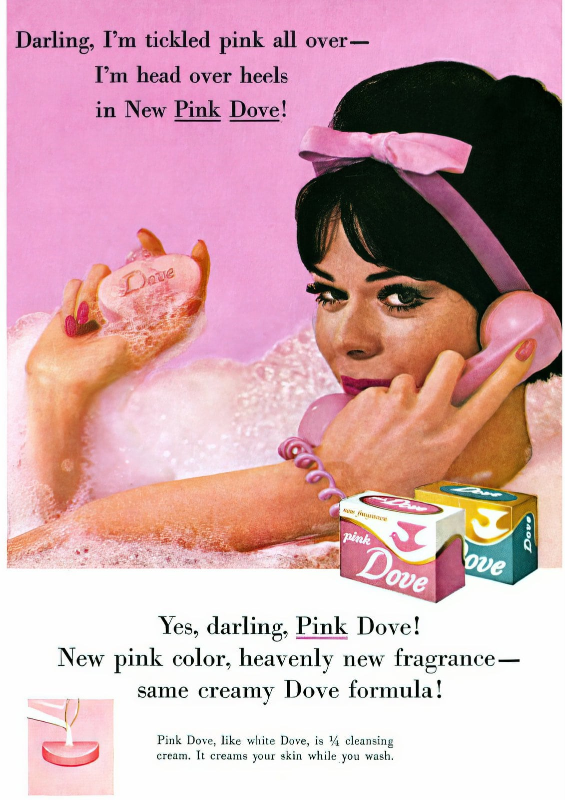 Pink Dove soap from the 1960s