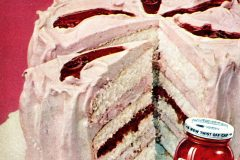 Pink Easter Bonnet cake with berry jam frosting filling (1958)