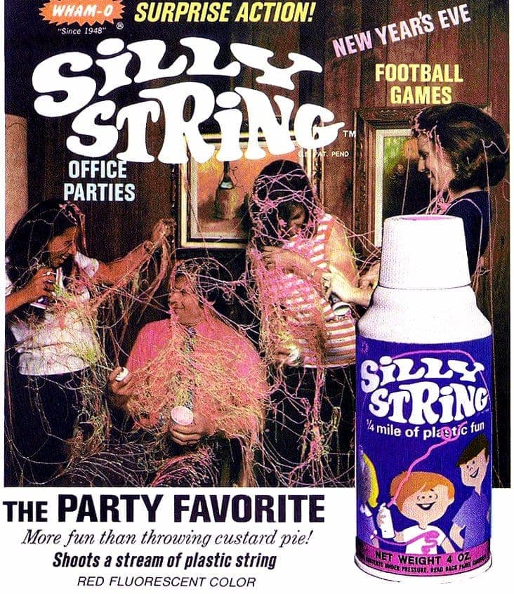 Pink Silly String - Party toy fun from the 70s - #ClickAmericana