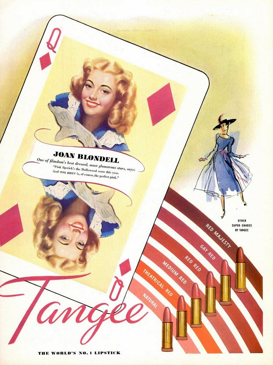 Pink Tangee lipstick from the 1940s
