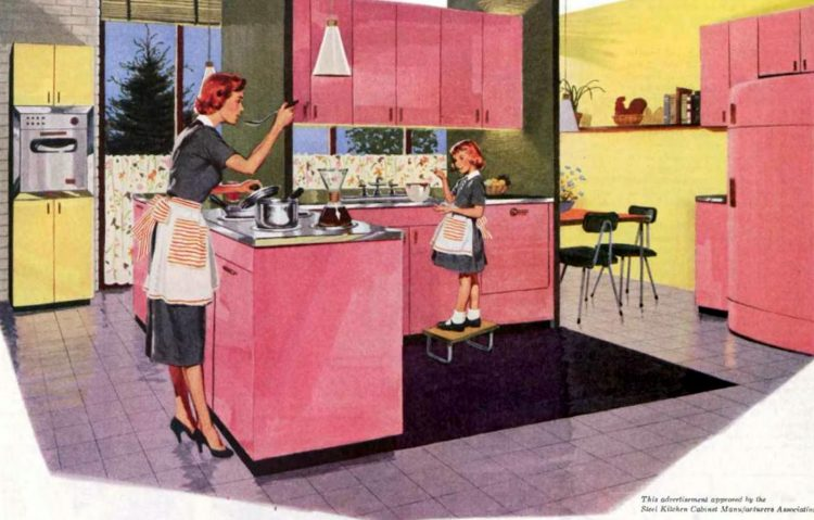 Pink kitchen from 1955