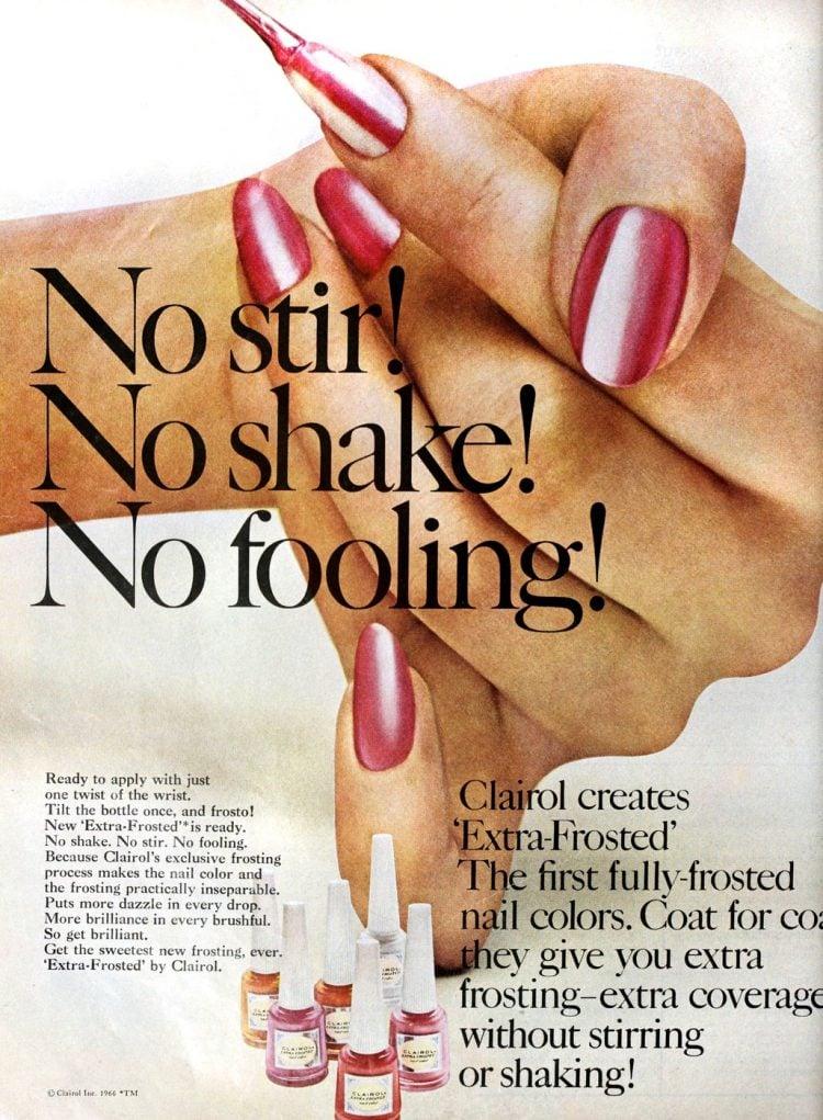 Pink pearl nail polish from 1966