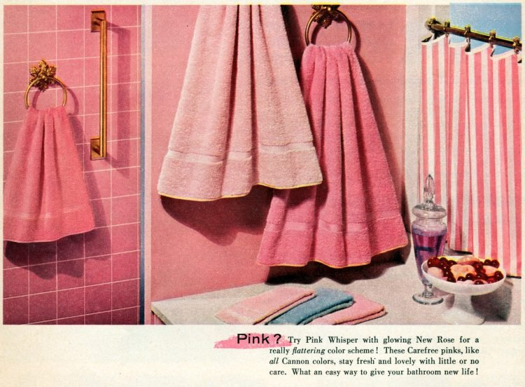 Pink towels from 1955