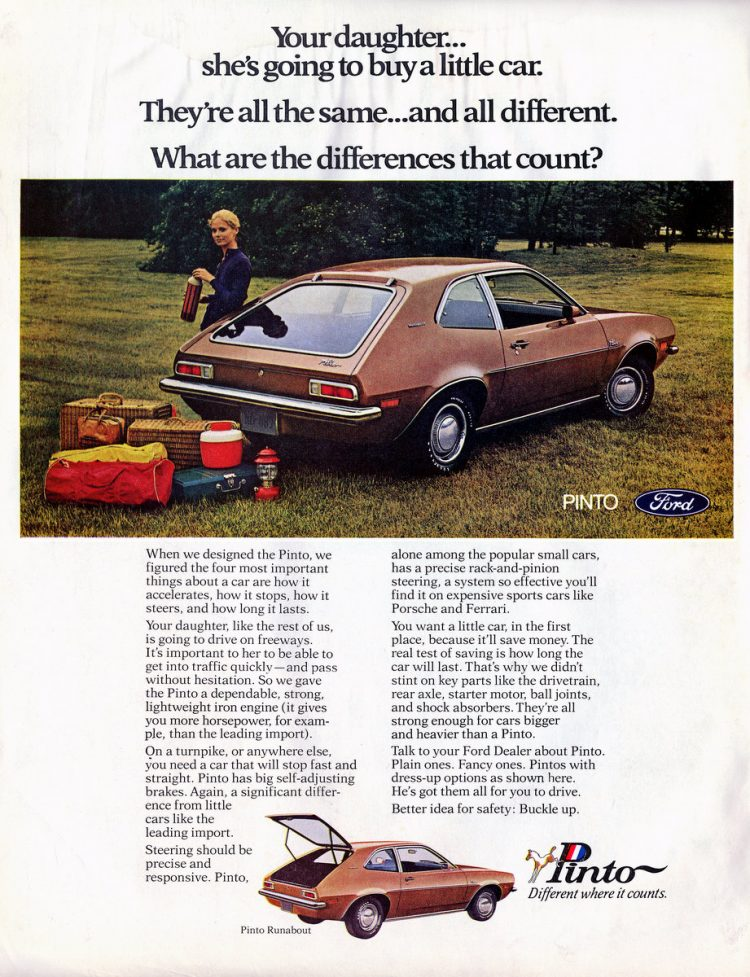 Pinto cars 1971