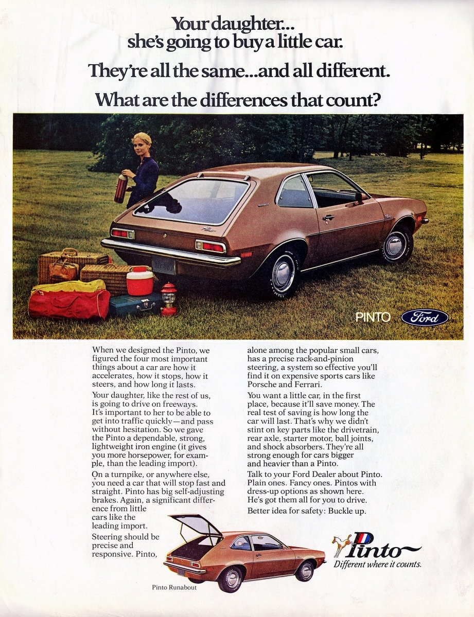 Pinto cars 1971
