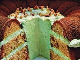 Pistachio Inside-Outside cake