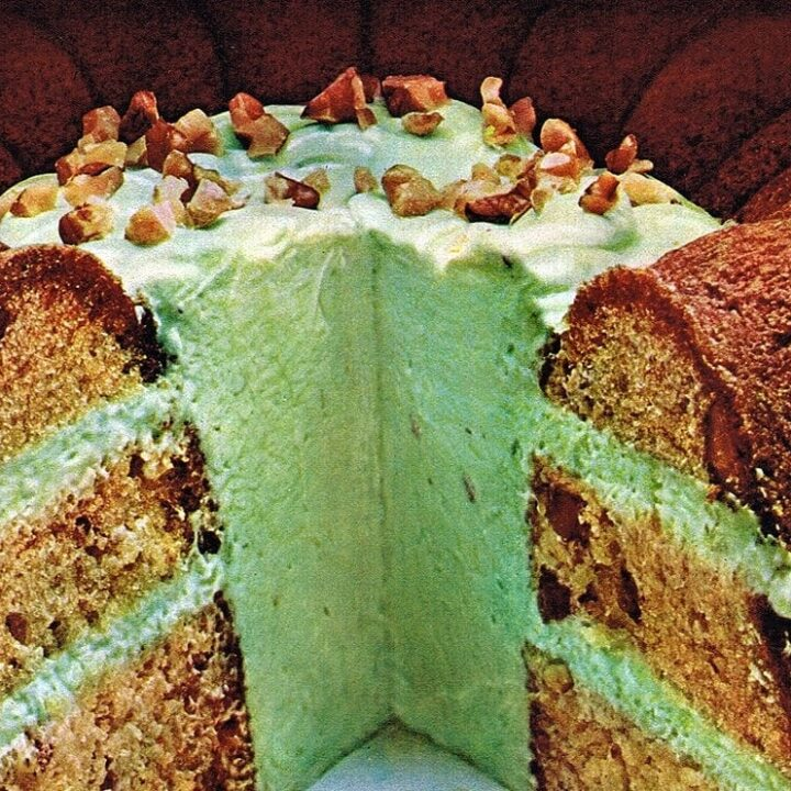 Pistachio Inside-Outside cake