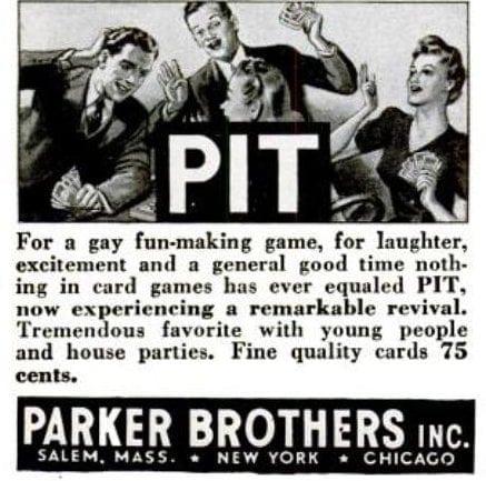 Pit vintage 1940s game