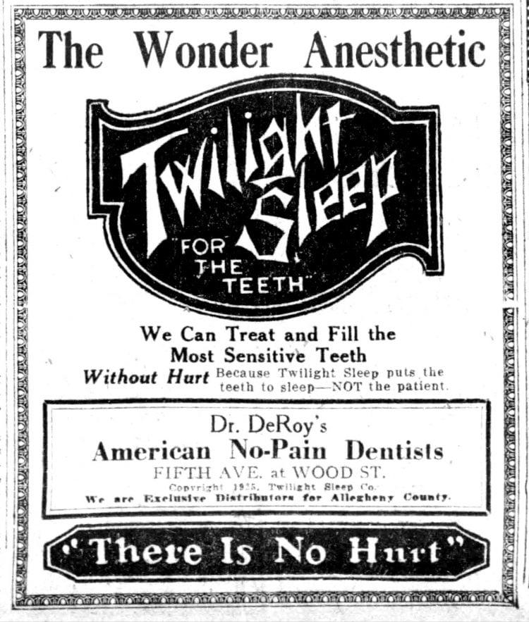 Pittsburgh Pennsylvania dentist (1925)