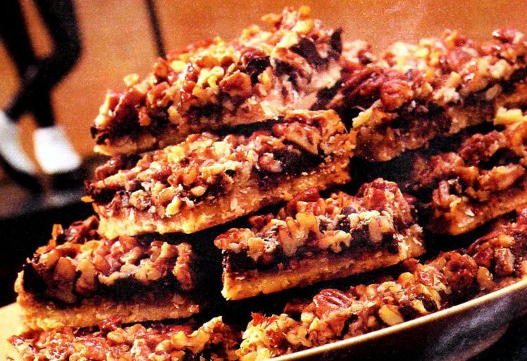 Planters holiday chocolate nut squares vintage recipe
