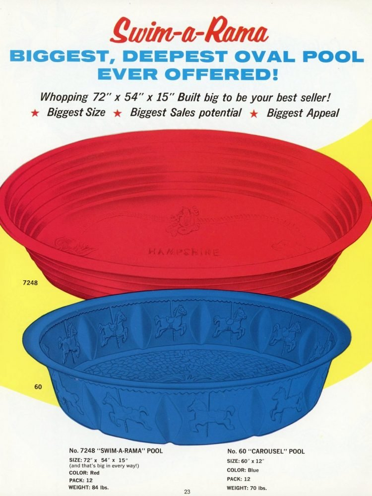 Plastic kiddie pools from 1969 (1)