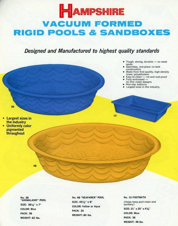 Plastic kiddie pools from 1969 (2)