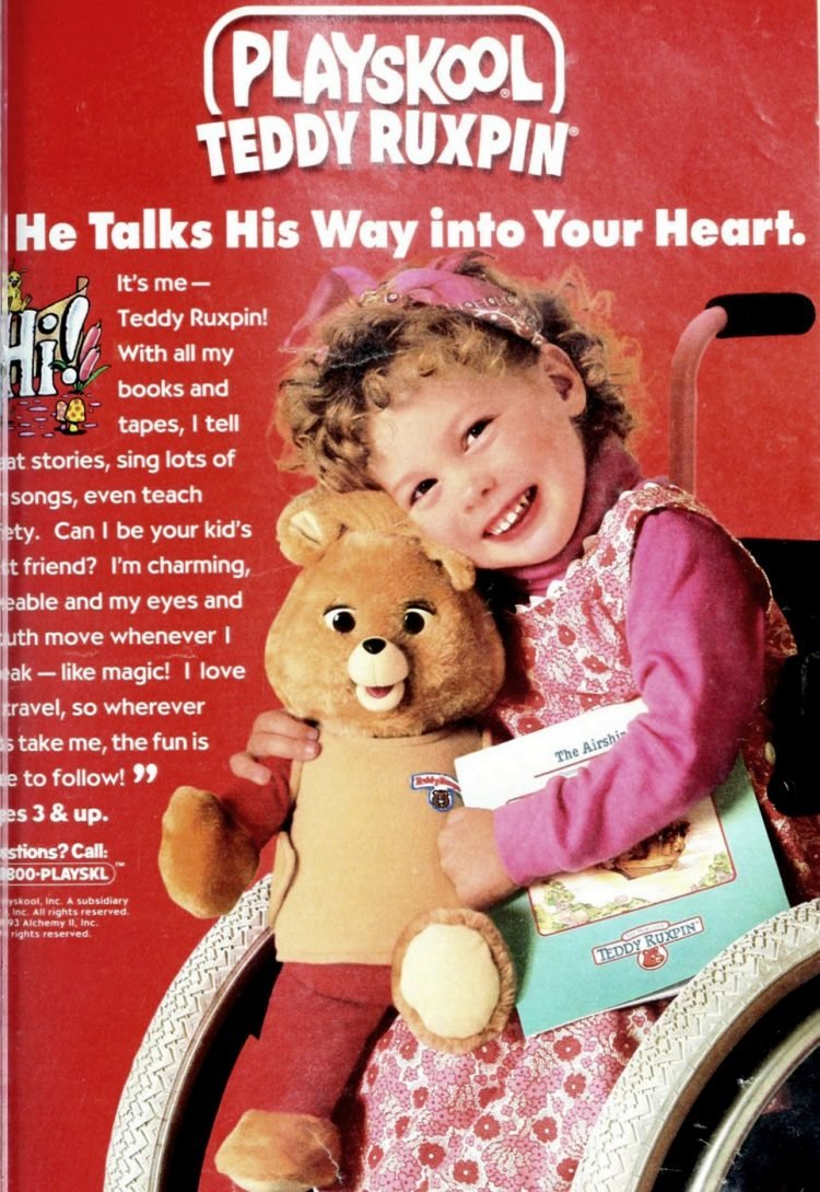 Playskool Teddy Ruxpin plush toy (1993)