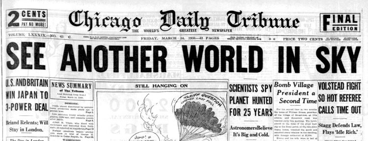Pluto discovery - March 14, 1930 - SEE ANOTHER WORLD IN SKY