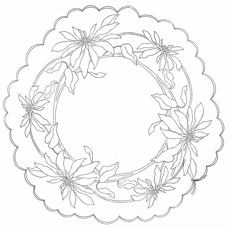 Poinsettia pattern - complete