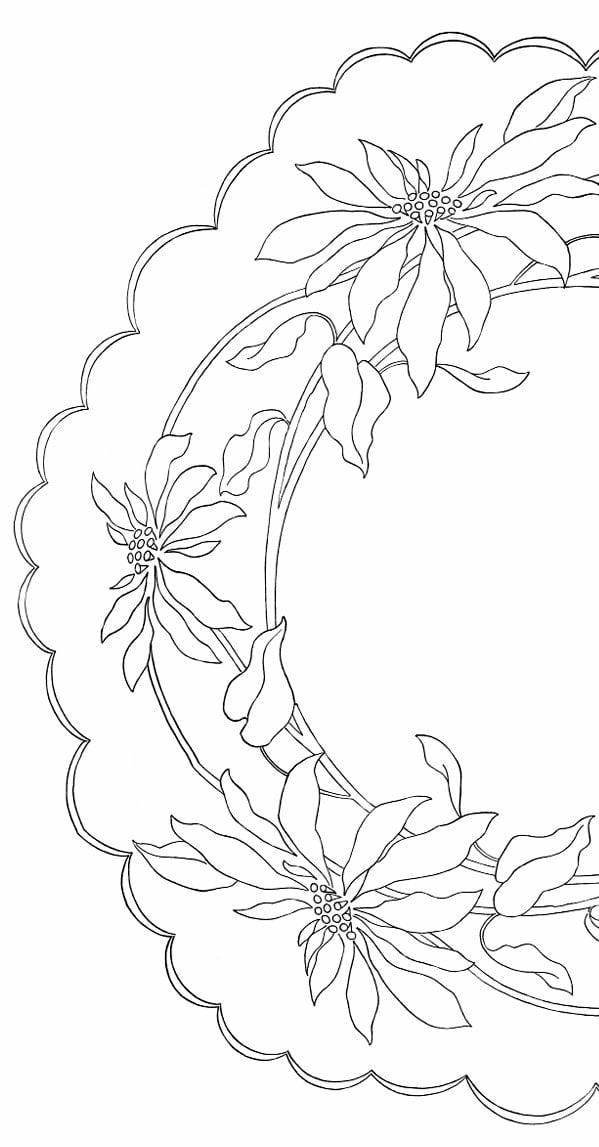 Poinsettia pattern - half