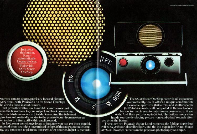 Polaroid SX Sonar OneStep instant camera 1979